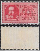 Italia Italy 1933 Regno Pneumatica C35 Sa N.PN15 Nuovo Integro MNH ** - 1900-44 Vittorio Emanuele III