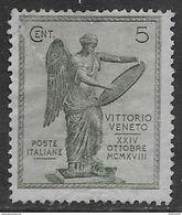 Italia Italy 1921 Regno Vittoria C5 Sa N.119 Nuovo MH * - Nuovi