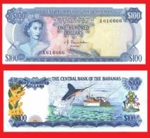 Bahamas  100   Dollars 1974-2   -- Copy - Copy- Replica - REPRODUCTIONS - Bahamas