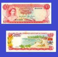 Bahamas  3   Dollars 1968   -- Copy - Copy- Replica - REPRODUCTIONS - Bahamas