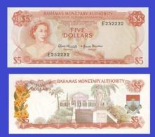 Bahamas  5  Dollars 1968   -- Copy - Copy- Replica - REPRODUCTIONS - Bahamas