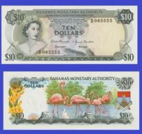 Bahamas  10  Dollars 1968   -- Copy - Copy- Replica - REPRODUCTIONS - Bahamas