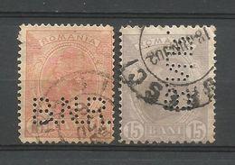 ROMANIA  - OLD PERFINS   - D 714 - Roumanie