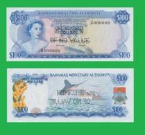 Bahamas  100  Dollars 1968   -- Copy - Copy- Replica - REPRODUCTIONS - Bahamas