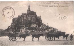 ***  50  ***  Mont Saint Michel   Vue Prise  Côté Sud Est - Timbre Décollé - Le Mont Saint Michel