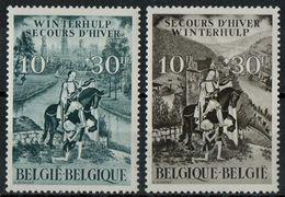 PIA - BEL - 1943-44 : Soccorso D'inverno - S.Martino E  Vedute Delle Fiandre E Della Vallonia -(Yv 639-40) - Belgio