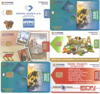 Bosnia-6 Phonecards,sample - Bosnia