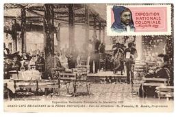 MARSEILLE (13) - Exposition Coloniale 1922 - Grand Café Restaurant De La Ferme Provençale - Ed. F. Detaille - Exposiciones Coloniales 1906 - 1922