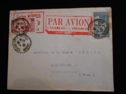 Enveloppe 1932 Par Avion Georges Monnier Casablanca Toulouse  Lettre  CL18 - Marcophilie (Lettres)