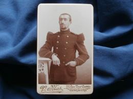 Photo CDV V. Mas à Cherbourg  - Militaire Caporal Infanterie Coloniale, Marsouin L369 - Alte (vor 1900)