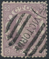 AUSTRALIA / VIC - 1866 3d Lilac Queen Victoria With '8' Watermark, Used – SG # 118 - Used Stamps