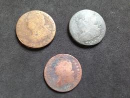Lot De 3 - Louis XVI - Bronze - 1789-1795 Monnaies Constitutionnelles