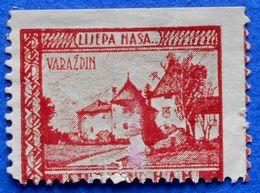 CROATIA CHARITY PATRIOT STAMP LIJEPA NASA VARAZDIN STUDENT FUND OF THE CROATIAN ACADEMY OF SCIENCES (1930) - USED - Croatia