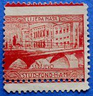 CROATIA CHARITY PATRIOT STAMP LIJEPA NASA SARAJEVO STUDENT FUND OF THE CROATIAN ACADEMY OF SCIENCES (1930) - USED - Croazia