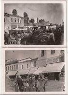 4 Private Photos  KORCË ALBANIA YEAR ?? Dim. 14.5 X 10.5 Cm Ref 1347 MARKET & SHOPS - Albanië