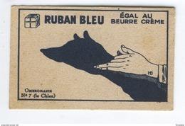 MARGARINE RUBAN BLEU EGALE AU BEURRE CREME QUALITE INCOMPARABLE OMBROMANIE N°7 (le Chien) - Vieux Papiers