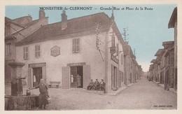 Isére : MONESTIER-de-CLERMONT : Grande Rue Et Place De La Poste ( Colorisée ) - France