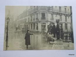 Crue De La Saine-PARIS-Clichy-Bureau Central Telephonique - Paris Flood, 1910