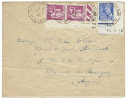ENVELOPPE  TYPE PAIX MERCURE  / ROUEN QUARTIER GARE  INFERIEURE / 1939 /  POUR VILLEFRANCHE AVEYRON - Marcophilie (Lettres)