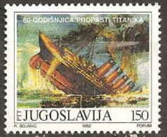 YOUGOSLAVIE - 80e Anniversaire Du Naufrage Du Titanic - Ships