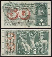 Schweiz - Switzerland 50 Franken  Banknote 7-7-1955  Pick 47a   F/VF  (15054 - Suiza