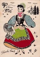 FRANCHE COMTE CARTE EN RELIEF AVEC TISSU ACHAT IMMEDIAT - Costumes