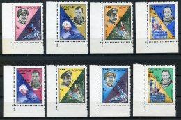Yemen Arab Republic, 1965, Space, Astronauts, Luna 9, MNH Overprinted, Michel 494-501A - Yémen