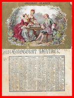 CHROMOS. Chocolat DEVINCK.  La Partie D'échecs, Calendrier De 1886...H505 - Autres
