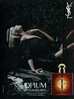 Publicité Papier Glacé - Advertising Paper - Opium D'Yves Saint Laurent - Perfume Cards