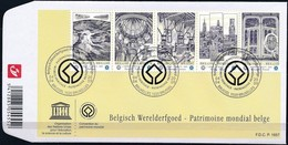 Belgie Belgique  2009 OCBn° FDC 3893-3897 (o) Oblitéré  Cote 15,00 Euro  Patrimoine Mondial Belge - 2001-10