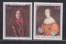 MONACO N°  845 & 846 ** MNH Neufs Sans Charnière, TB (D6131) Tableaux, Prince Et Princesse De Monaco - Nuevos