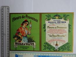 TARIF PUBLICITAIRE  FLEURS DE PROVENCE HUILE D'OLIVE DOCTEUR M. REYNES SALON DE PROVENCE  TARIF N° 57 04/1935 - Alimentare