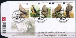 Belgie Belgique  2010 OCBn° FDC 4030-4034 (o) Oblitéré  Cote 22,00 Euro  Fauna Oiseaux Vogels Birds - 2001-10