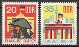 Allemagne - DDR  N° 1381 à 1382 Neufs ** - Mur De Berlin - [6] Democratic Republic