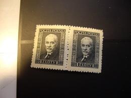 POLOGNE  344 D 11-1/2 Papier Vergé Horizontalement  1928-32  Paire  NEUF** - 1919-1939 Republic