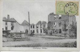 Ruines De TINTIGNY ..-- Carte Allemande N° 176 . Vers PARIS . Voir Verso . - Tintigny