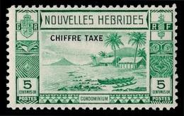 NOUVELLES HEBRIDES 1938 - Yv. Taxe 11 *   Cote= 7,00 EUR - Paysage Côtier 5c ; CHIFFRE TAXE  ..Réf.AFA23000 - Portomarken