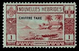 NOUVELLES HEBRIDES 1938 - Yv. Taxe 15 *   Cote= 36,00 EUR - Paysage Côtier 1f ; CHIFFRE TAXE  ..Réf.AFA23004 - Segnatasse