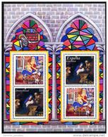 BRD - Michel Block 56 = 2226 / 2227 + Parallelausgabe Spanien - ** Postfrisch - Weihnachten 01 - [7] West-Duitsland