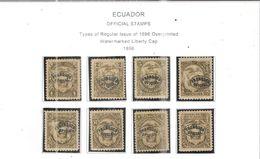 Ecuador Official 1896 Tipo Reg.Liberty Cap.Ovpr.  Scott O34/41+ See Scans On Scott.Page - Ecuador