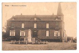 Rongy Monument Et Presbytère  1939 Destrebecq Cachet Bleharies - Brunehaut