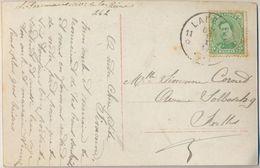 Nx552: N°137: *11 LAEKEN 11* 6-7 1 I 19: Noodsstempel: Postagentschap > Ixelles / Bonne Année- Kaartje.. - 1919-1920 Roi Casqué