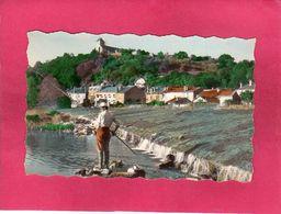 55 Meuse, Dun-sur-Meuse, La Meuse Et Le Déversoir, Animée, Pêcheur, 1958, (La Cigogne) - Dun Sur Meuse