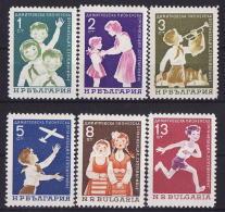 30-329 / BG - 1965  PIONEERING ORGANIZATION   *SEPTEMVRYICHE * Mi 1577/82 ** - Bulgaria