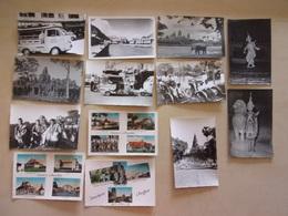 LOT DE 13 CP Et PHOTOS Des Années 50 Du CAMBODGE - Cambodge