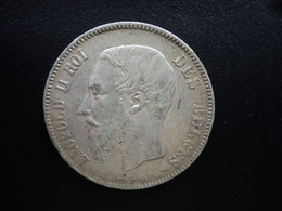 BELGIQUE : 5 FRANCS  1870 Tranche B *  KM 24   SUP - 1865-1909: Leopold II