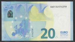 "EURO 20  ITALIA SB S006 C5  ""13""  DRAGHI  UNC - EURO"