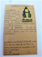PINS ANIMAUX EN PERIL LE GORILLE / 33NAT - Animals