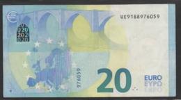 """€ 20  FRANCE  UE U008  """"18""""  DRAGHI  CIRCULATED - EURO"""
