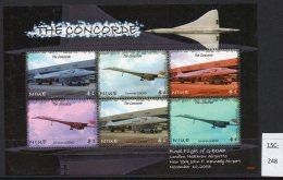 Niue Nov 2003 Concorde G-BOAD Flight Sheetlet/6 MNH. - Concorde